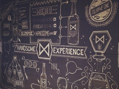 Handsome Wall handsome agency lettering type atpc all the pretty colors nathan walker beer chalk illustration chalkwall bw