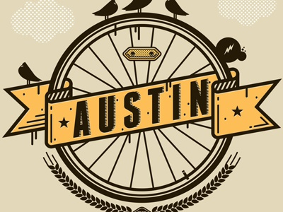 My Austin - You and Who t-shirt t-shirt charity austin texas bicycle beer type nathan walker all the pretty colors atpcdesign atpc birds