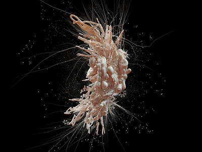Winter Virus organism illustration 3d cinema4d organic shrimp corona coronavirus virus