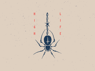 High Life russian criminal tattoo high life barbwire cross spider