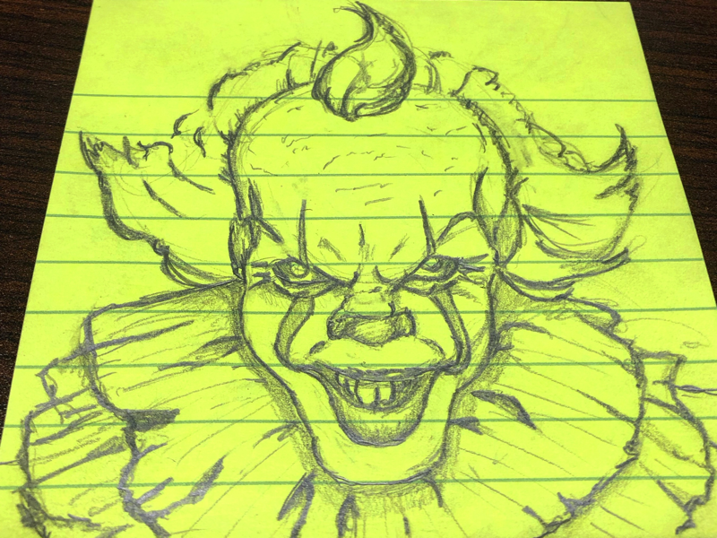 You'll float too daily drawing daily sticky pencil art