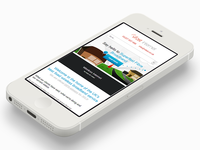 Mobile version of a new broadband provider website