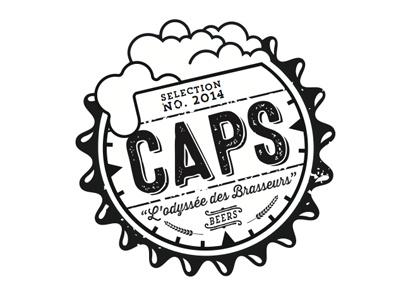 Caps Dribbble design kevinsky brandinsky southest salloon vintage foam caps beer logo