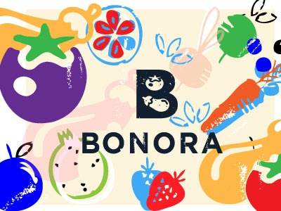 BONORA  box b mood good food organic vegan vegetable fruit fresh