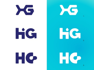 Hg Logo 3 gradient hg blue drop monogram