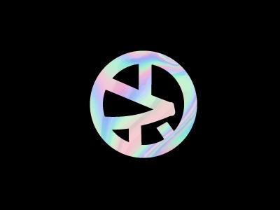 SYMBOL ideogram icon logo music chinese round iriscent japanese symbol