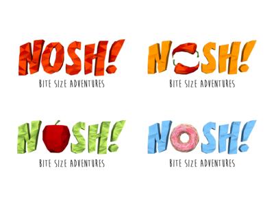 NOSH: Bite-Size Adventures Branding
