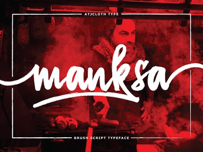 Manksa Typeface text type ligature swash wet brush script font brush font font lettering typeface