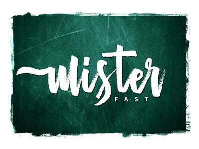 Mister Fast ligature fast ink hand draw hand lettering lettering marker brush typeface type font