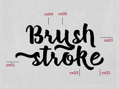 Dribbble Brush Stoke halloween script brush ligature swash calligraphy lettering fonts typeface type