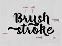 Dribbble Brush Stoke
