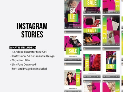 Instagram Stories Sale Template 2018 trend layout simple clean pack mobile web template design stories instagram