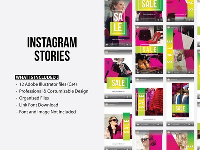 Dribbble 2018 trend layout simple clean pack mobile web template design stories instagram