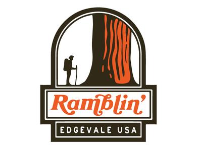 Scrapped Ramblin' Badge