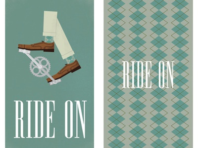 Ride On Notebook bike bicycle argyle notebook ride on oxfords