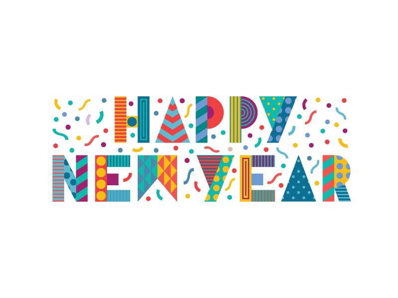 Happy New Year by Bret Baker - Dribbble
