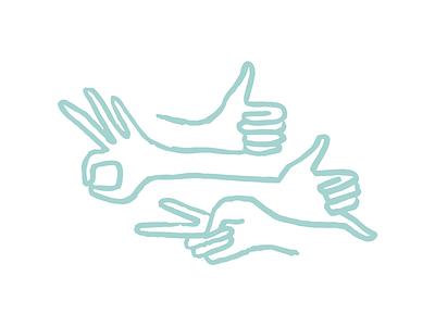 Hand Vibes peace ok hang loose thumbs up hand