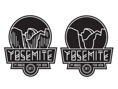 Yosemite Pow Wow yosemite logo badge shirt pow wow national park half dome el capitan valley