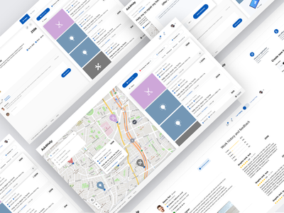 Ask4Help ux ui platform freelance map dashboard account client
