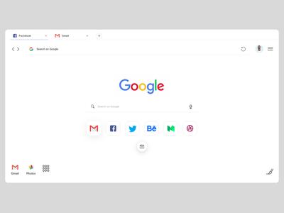 Google chrome redesign concept