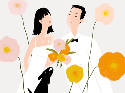 Wedding Website Illustration