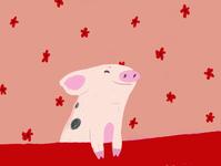 A happy piggy