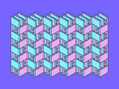 HI Pattern 2d isometric pattern design illustrator triad hi type pattern geometric abstract type flat pattern design colorful