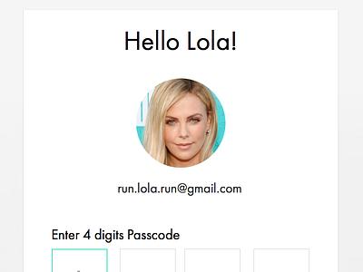 Secure login 2 login secure pin passcode