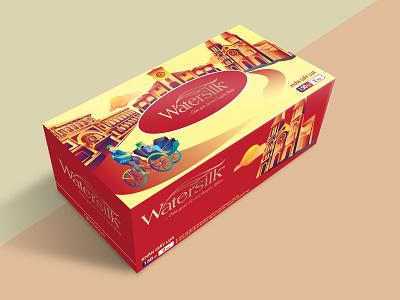 Tissue box design branding illustration