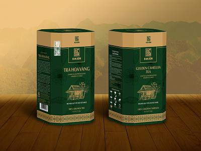 lden camelia tea box design branding