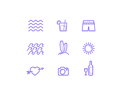HU icons drink short wave love wine sun beach icon icons urbano hotel hu