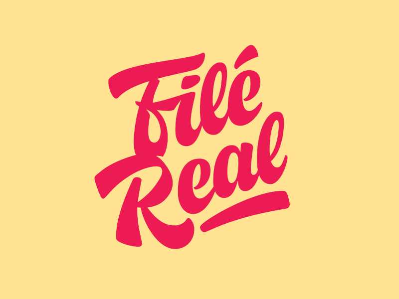 Filé Real custom food meat filet real typography type lettering