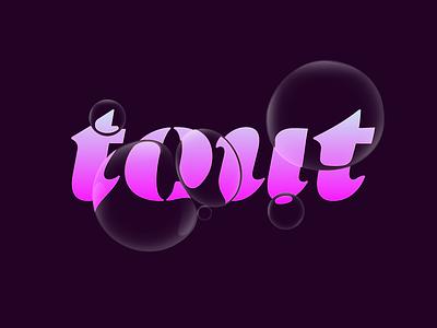 Tout sense 3d wash bubbles gradient idendity logo motel tout