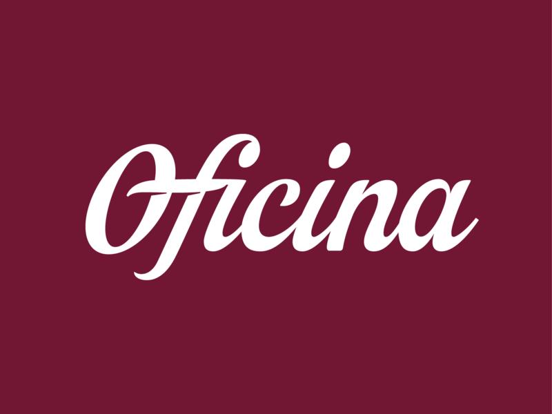 Oficina Lettering typedesign branding logo design typography lettering type