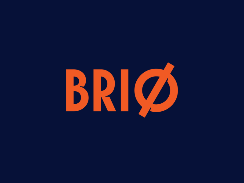 Brio branding logo design typedesign type football soccer sport logotype logo