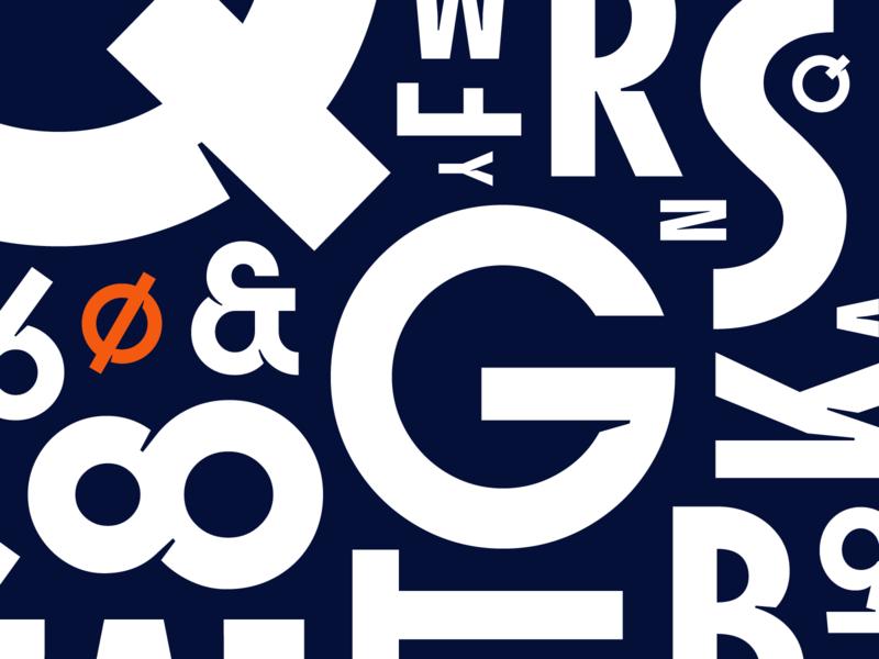 Brio Sans   Custom Typeface deco art football soccer logo design typedesign typeface custom lettering type
