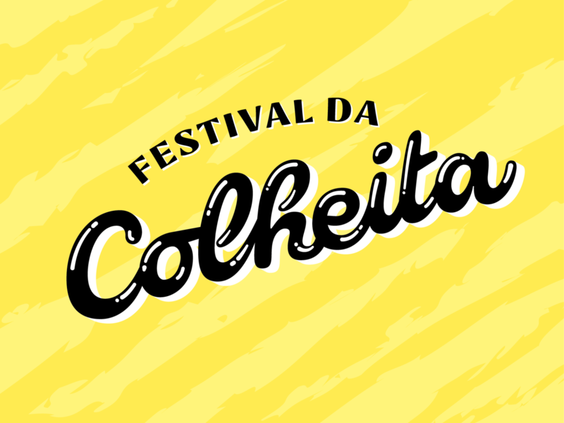 Festival da Colheita vegatable fruit texture food logo design lettering farm vegan organic colheita festival