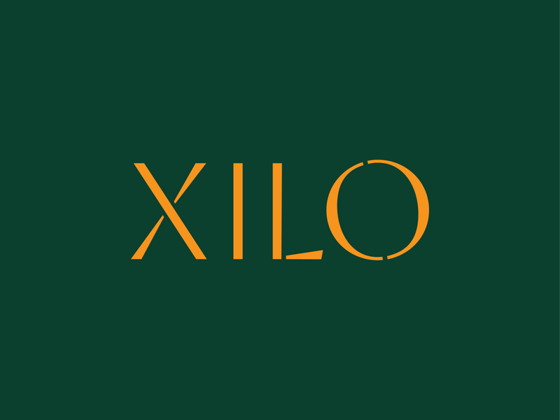 Xilo Logotype woodcut florest nature brasil wood logotype custom design typography branding lettering type logo