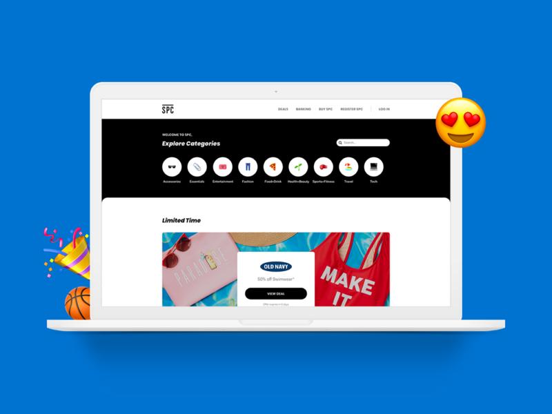 SPC Web App deals ui promo offers discount student web apps web app product design