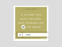 Dust Yourself Off & Try Again