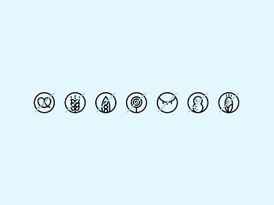 Intolerant Icons line icon allergies sugar free gluten free iconset icons design