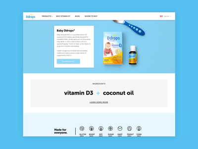 Ddrops Product Page baby health vitamins icons product web design design