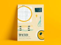 Sip 'N' Stitch Poster
