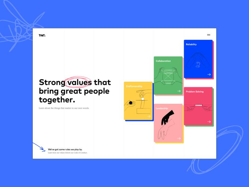 Culture Guide Website color minimal bright illustration webdesign cultures guide cards culture values design