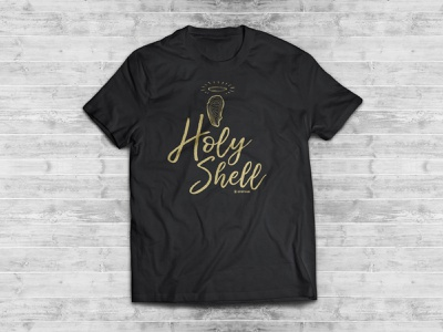 """Oystour """"Holy Shell"""" T-shirt oyster funny holy shell oystour vector icon typography t-shirt logo illustration graphic design design branding design branding"""
