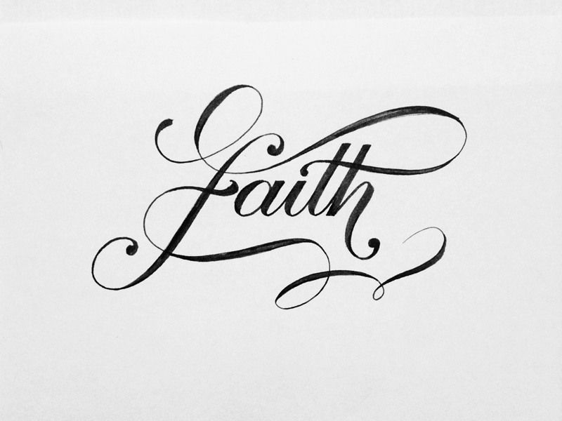 Faith brush lettering type typography bold script cursive brushpen tombow faith hand-lettering hand-drawn