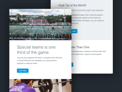 Hudl Football Newsletter marketo newsletter sports cta layout football email
