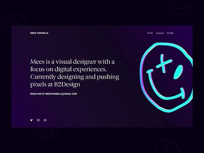 Folio 2021 logo branding freelance homepage portfolio ux webdesign ui blender animation 3d art 3d