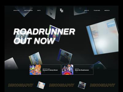 BROCKHAMPTON - Music Page uiux visual design design graphic design ui blender branding webdesign homepage 3d typogaphy music