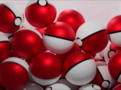 Pokeball Loop test physics falling blender motion design loop pokeball pokemon animation 3d art 3d